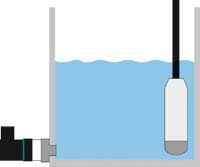 Medida de nivel en depósito con transmisor de presión