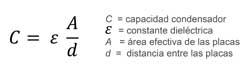 Ecuación sensor capacitivo