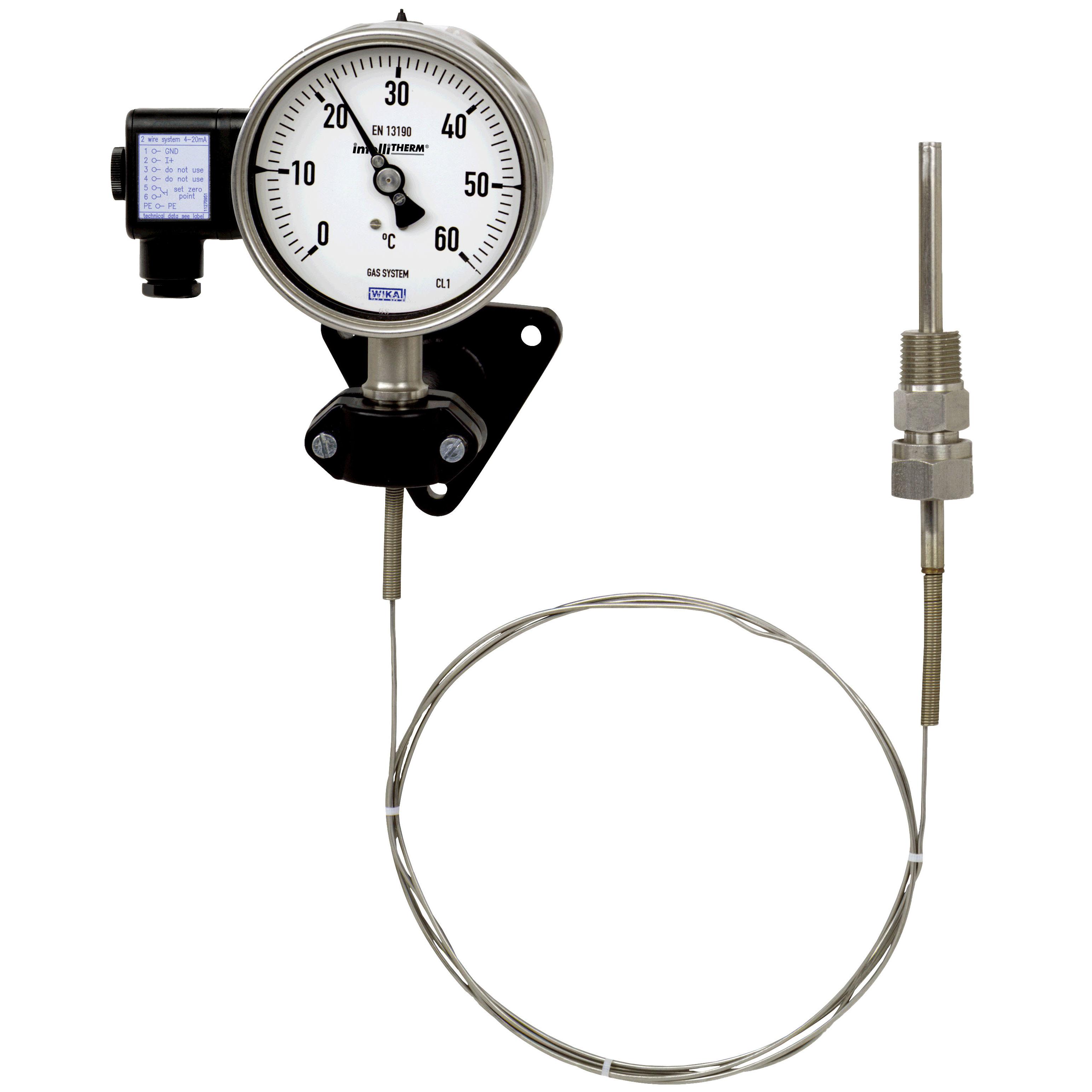 Termometro de dilatación de gas con capilar