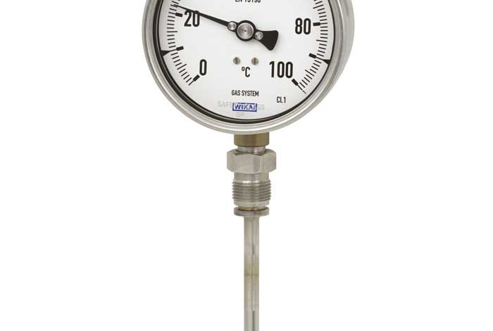 Termómetro de dilatación de gas