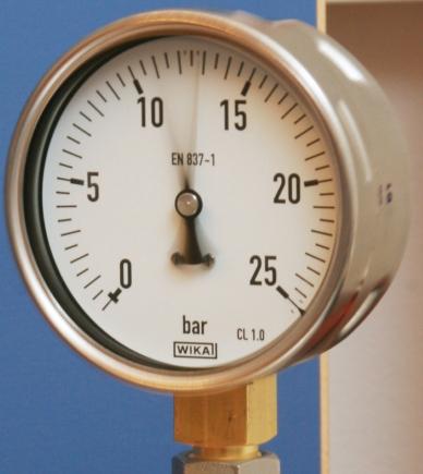 Manómetro con relleno de glicerina WIKA