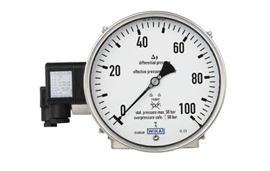 Manómetro con contacto eléctrico WIKA