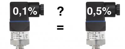 Exactitud sensor de presión