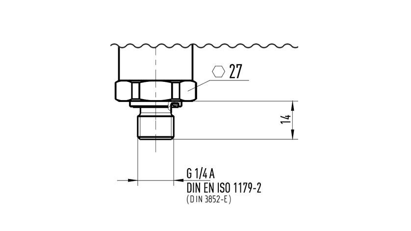 Norma conexión DIN 3852-E DIN EN ISO 1179-2