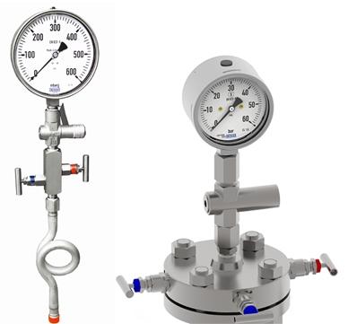 Manómetro con manifold
