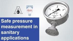 Aplicaciones sanitarias: Manómetro de membrana con diseño especial para medición higiénica