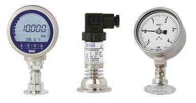 Instrumentos de medición WIKA con separador y conexión CLAMP