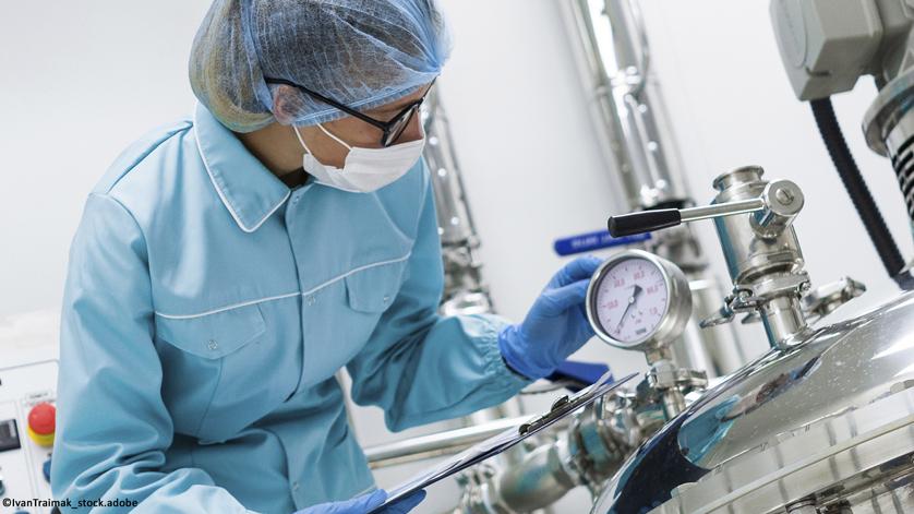 Pressure monitoring - vaccine production